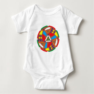 Sample Indian pattern native American Baby Bodysuit