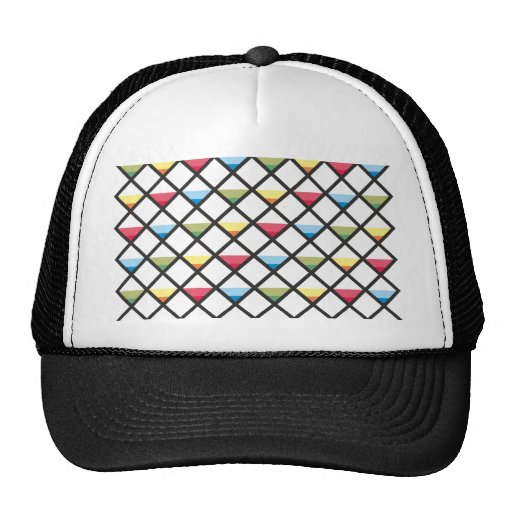 Sample of squares of triangles pattern squares tri hats