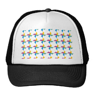 Sample of triangles pattern triangles trucker hats