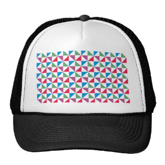 Sample of triangles pattern triangles mesh hat