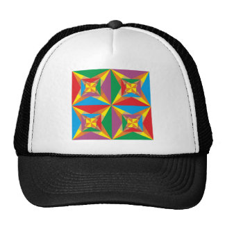 Sample of triangles pattern triangles trucker hat