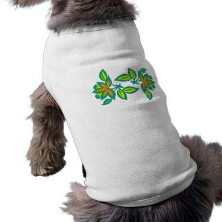 Sample ornamentation flowers flowers pattern pet t-shirt