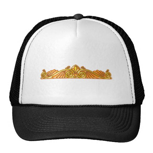 Sample pattern Brosche brooch gold Mesh Hats