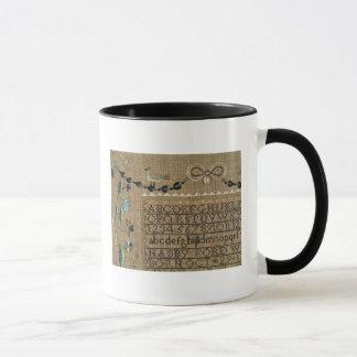 Sampler by N.Ford, 1799, New Hampshire Mug