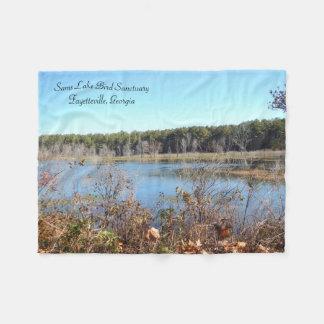 Sams Lake Bird Sanctuary Small Fleece Blanket