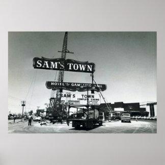 Sams Town Las Vegas 1975 Poster