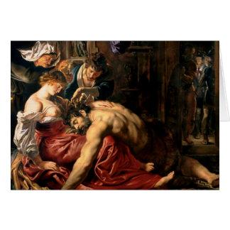 Samson and Delilah, c.1609 Greeting Card