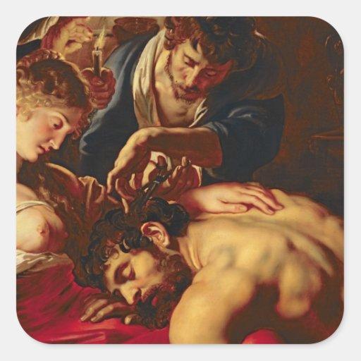 Samson and Delilah, c.1609 Sticker
