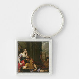 Samson and Delilah Key Ring