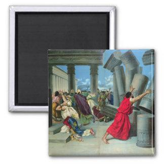 Samson and Delilah Square Magnet