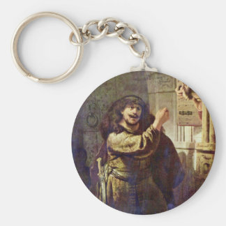 Samson Threatened His Father - By Rembrandt Harmen Key Chain