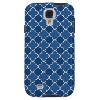 Samsung Blue Quatrefoil Pattern Galaxy S4 Case