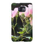 Samsung Case Pink Spray Roses Galaxy S2 Cover