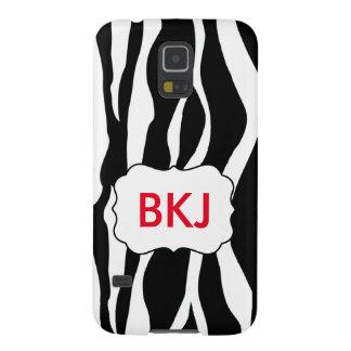 Samsung Galaxy 5 Case Zebra with initials