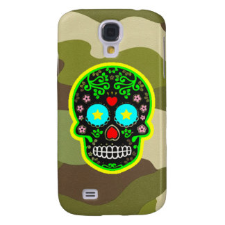 Samsung Galaxy S4 camouflage mexican skull Galaxy S4 Case