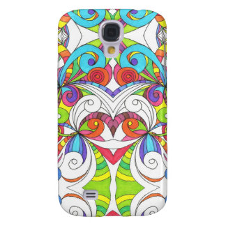 Samsung Galaxy S4 Case Floral abstract background