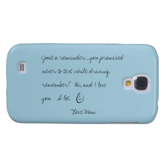 Samsung Galaxy S4 case - note from mom