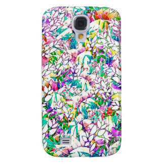 Samsung Galaxy S4 Grunge Art Floral Abstract Galaxy S4 Case