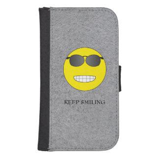 Samsung Galaxy S4 Keep Smiling Samsung S4 Wallet Case