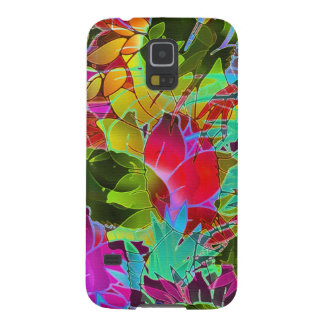 Samsung Galaxy S5 Case Floral Abstract Artwork