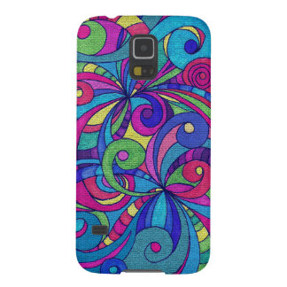 Samsung Galaxy S5 Case Floral Doodle Drawing