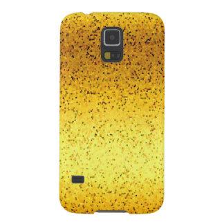 Samsung Galaxy S5 Case Glitter Graphic Gold