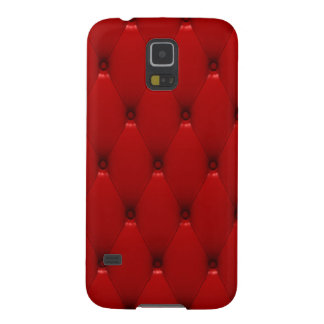 Samsung Galaxy S5 Case, Red Padded Leather Galaxy S5 Covers