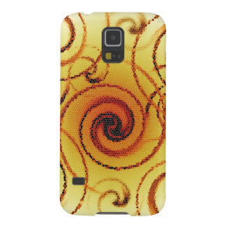 Samsung Galaxy S5 Case Spiral Abstract Yellow