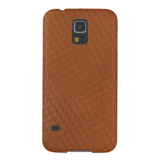 Samsung Galaxy S5 Case - tan checkered leather