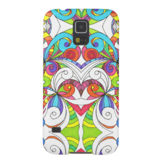 Samsung Galaxy S5 Floral Doodle Drawing Galaxy S5 Cover