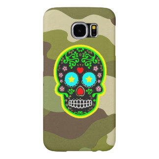 Samsung Galaxy S6 camouflage mexican skull Samsung Galaxy S6 Cases