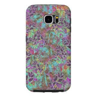 Samsung Galaxy S6 Case Grunge Art Floral Abstract