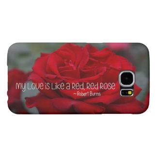 Samsung Galaxy S6 Case My Love Red Rose