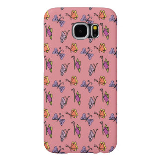Samsung Galaxy S6 case with Butterflies pattern