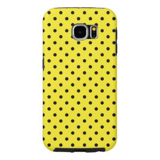 Samsung Galaxy S6 Case Yellow Polka Dot