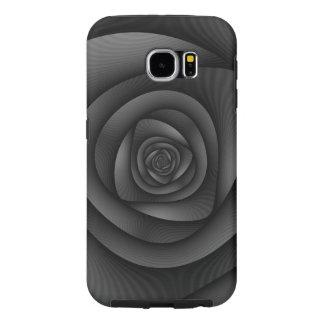 Samsung Galaxy S6  Spiral Labyrinth in Monochrome Samsung Galaxy S6 Cases