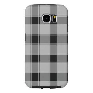 Samsung Galaxy S6, Tough - Plaid Black Samsung Galaxy S6 Cases