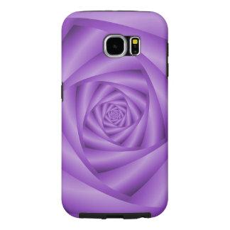 Samsung Galaxy S6  Violet Spiral Samsung Galaxy S6 Cases