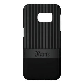 Samsung Galaxy S7 Case Black Background Stripes