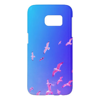Samsung Galaxy S7 case with seagull on the sky