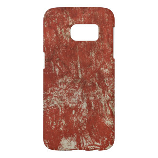 Samsung Galaxy S7 case with vintage red background