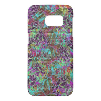 Samsung Galaxy S7 Grunge Art Floral Abstract