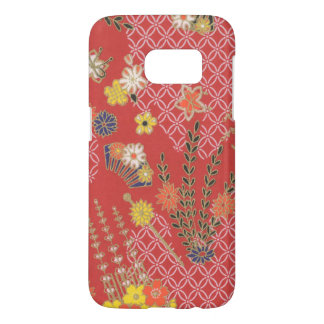 Samsung Galaxy S7 Japanese Pink Floral Phone Case