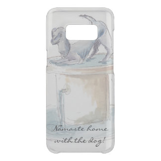 "Samsung Galaxy S8 Clearly ""Watercolor Dog/London"" Uncommon Samsung Galaxy S8 Case"