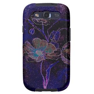 Samsung Galaxy S Purple Poppies Galaxy S3 Covers