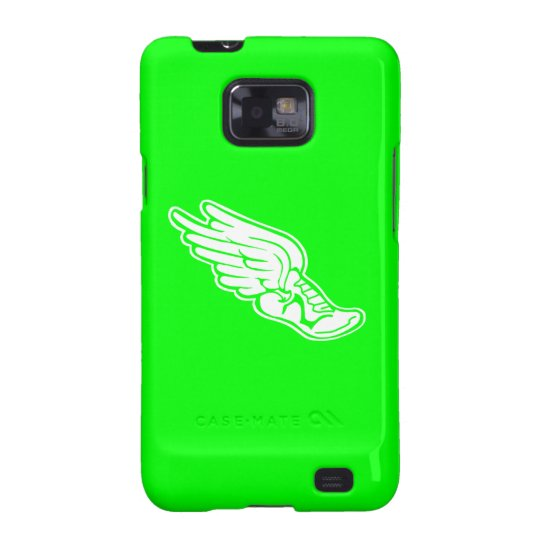 Samsung Galaxy S Track Logo White on Green Galaxy S2 Covers