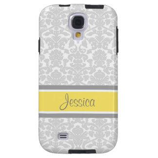 Samsung Lemon Damask Custom Name Galaxy S4 Case