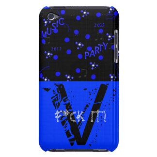 SAMSUNG PHONE CASE ROYAL BLUE BACKGROUND iPod TOUCH CASE