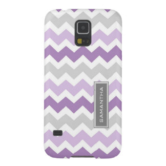 Samsung Purple Ombre Chevron Custom Name Galaxy S5 Cover