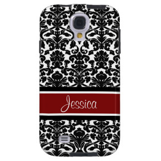 Samsung Red Damask Custom Name Galaxy S4 Case